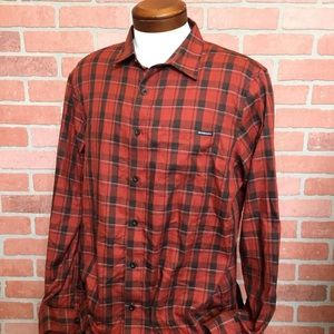 Oakley Mens Shirt large plaid button front (DD46)